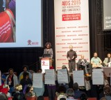 SAFRICA-HEALTH-AIDS-CONFERENCE-DEMO