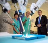 Gordon Brown Visits Christie's Hospital