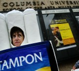 Protestors Demonstrate Against Animal Experiments At Columbia University