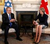 Prime Minister Netanyahu Visits Theresa May In Downing Street