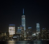 New York City Landmark One World Trade Center illuminates Turquoise In Support Of The American Lung Association's LUNG FORCE
