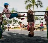 Locals Make Use Of Phnom Penh's Public Exercise Spots
