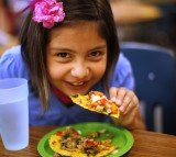 child, girl, eating