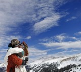 Skiing Couples Wed Atop Colorado's Loveland Ski Area