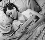 Sleeping woman in bed