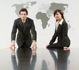 man, woman, business, office