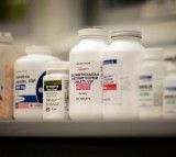 A shelf of antibiotics