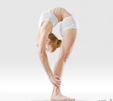 Intense yoga pose