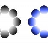 Black and Blue Glare Illusions (IMAGE)