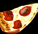 pizza, food, drawing