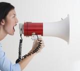 megaphone, talk, scream