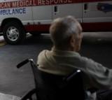 wheelchair, hospital, ambulance, man