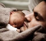 sleep, child, father, baby