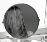 Female Look People Mirror Dissatisfaction Black