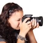 Camera Digital Equipment Female Girl Isolated
