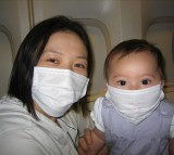 swine flu, Mother and son