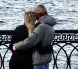 Couple Love Tenderness Sweethearts People Young