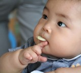 Baby, eating, food, infant