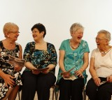 Seniors, women, laughing