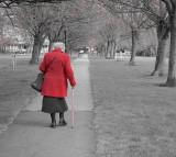 Walking, old, senior