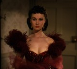 red dress, women, gone with the wind