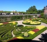 Albi Castle Garden Courtyard