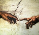 Art Painting Mural Michelangelo Il Creazione D'adamo