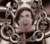 Chains Caught Psyche Man Patient Cry Suffering