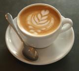 A fresh cappuccino
