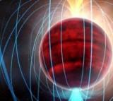 A dim red dwarf star.
