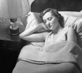 Woman sleeping.