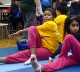 Yoga at the Kohl's and Boston Children's Hospital's Healthy Family Fun event.